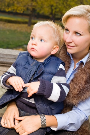 Me and my mom, attractive young mother with cute son. Stock Photo - 13645922
