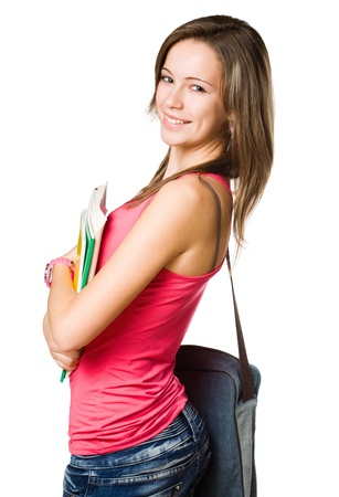 Portrait of a beautiful confident young student girl.  Stock Photo - 16695418