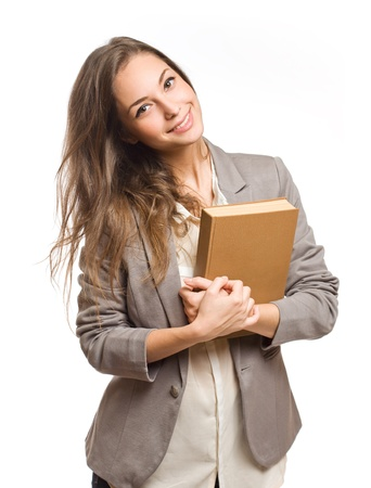 Portrait of happy confident young student woman. Stock Photo - 17576553