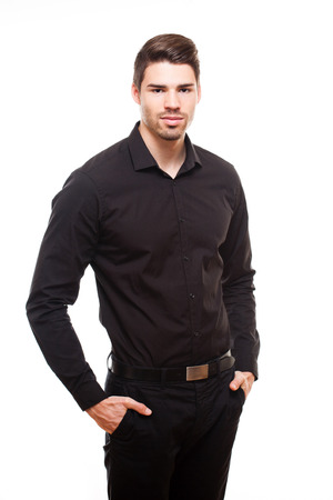 cute guy: Portrait of an elegant cool young businessman.