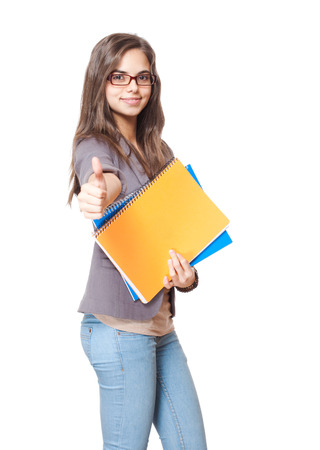 Portrait of a gorgeous happy young student girl. photo