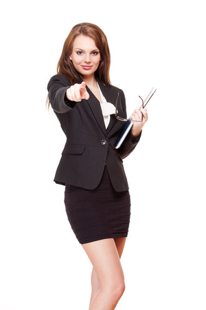 Portrait of an attractive young brunette businesswoman. photo