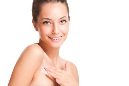 Portrait of a young brunette cosmetics beauty. Reklamní fotografie