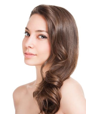 Portrait einer Brünette Schönheit mit starken gesundes Haar. Standard-Bild - 36936049