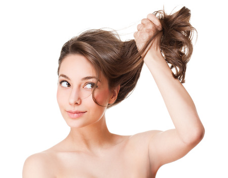 Portrait einer Brünette Schönheit mit starken gesundes Haar. Standard-Bild - 37229111