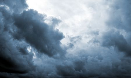 rainclouds: Dark clouds in blue Stock Photo