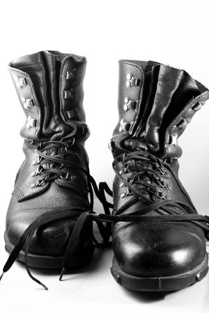 army boots: army boots isolated on white