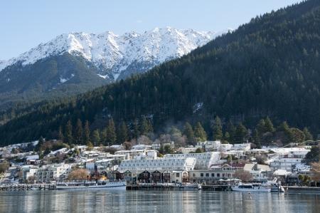 Beautiful winter resort Queenstown  Stock Photo