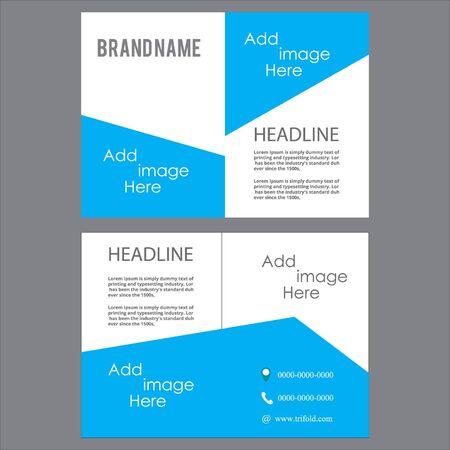 Vector - bi flod brochure design template