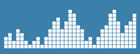 Bar chart diagram. Columns with square steps. Data chart vector illustration. Flat isolated infographic element. Growth, decreasing. For report and presentation. Vecteurs
