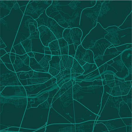 Vector map of Frankfurt. Street map poster illustration. Frankfurt map art.