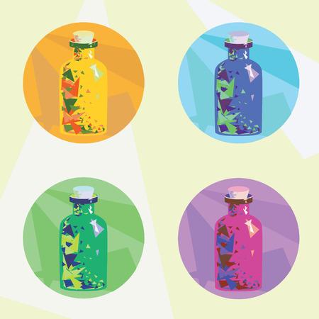 pocion: ilustraciones iconos con poci�n m�gica