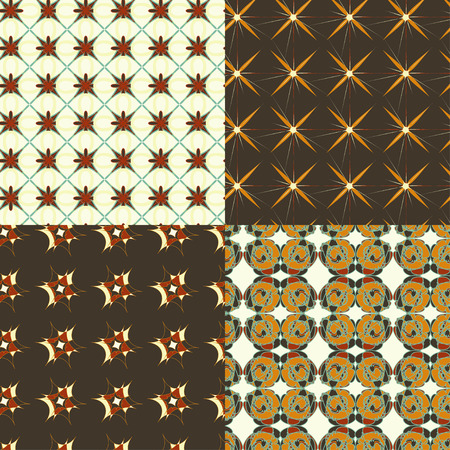 polygraphy: Vector abstract pattern set with geometrical ornament. Retro colored abstract patterns for paper, textile, polygraphy, game, web design