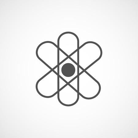 stylize: Vector flat stylize atom icon.