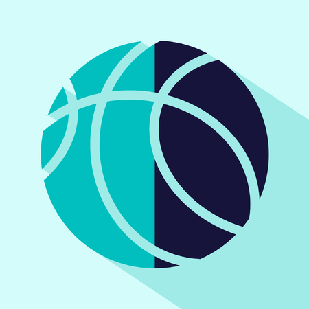 stylize: Vector flat stylize basketball icon. Illustration