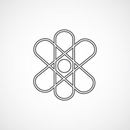 stylize: flat stylize line atom icon