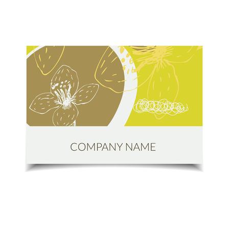 florist: business card set for art manager, wedding planner, florist with abstract flower design.