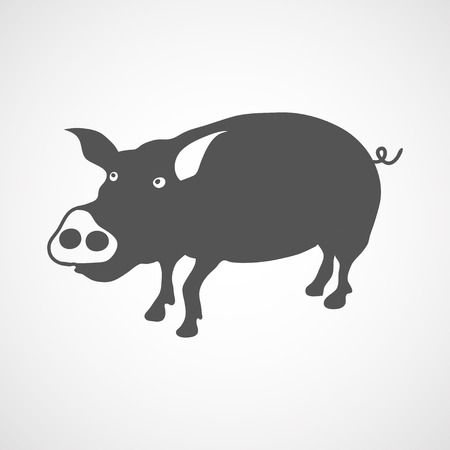 teats: flat pig icon Illustration