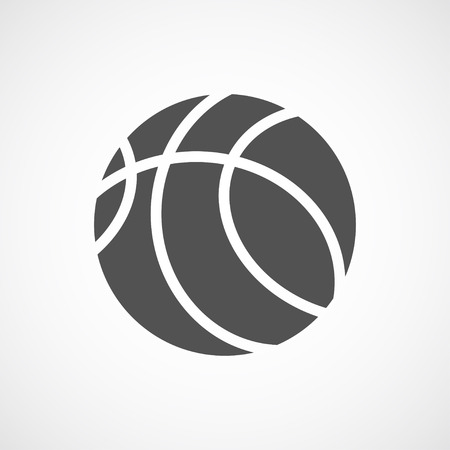 Vector flat stylize basketball icon. Isolated black icon for logo, web site design, button, app, UI. Basketball illustration for posters, cards, book cover, flyers, banner, web, game designs. Logo