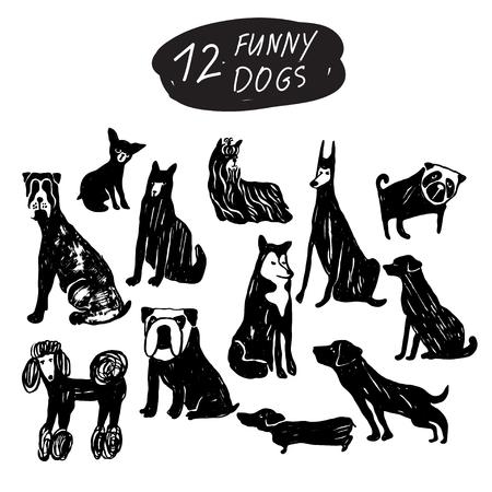 Funny dog icon symbol.