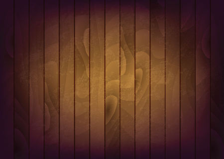 Wood vector background with brown wood texture.
