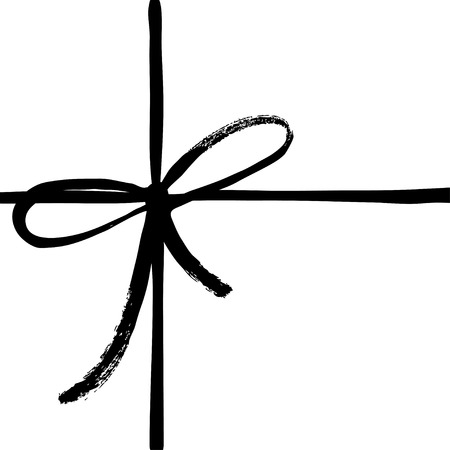 Vector hand drawn bow icon.