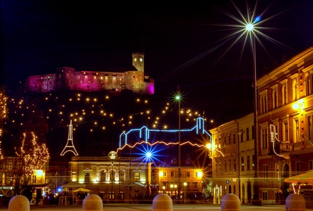 ljubljana: Christmas lights, Ljubljana, Slovenia