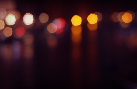 urban: Urban lights bokeh, blurred dark