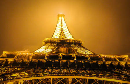 urban: Eiffel tower at night, Paris Stock Photo