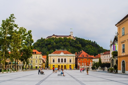 urban: Urban landscape of Ljubljana city Stock Photo