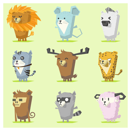 rata caricatura: Bonito Animales Icon Set 3, vector, ilustraci�n Vectores