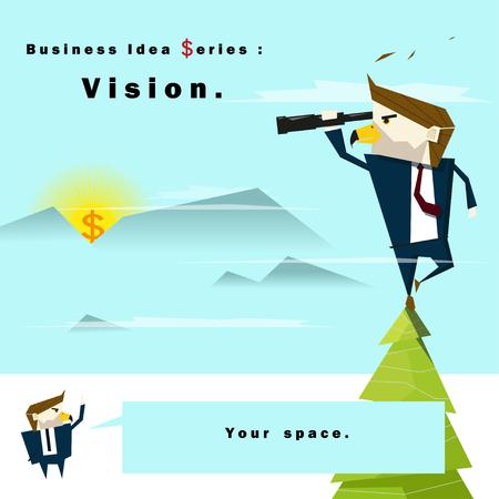 hopeful: Business idea series Vision,vector,illustration