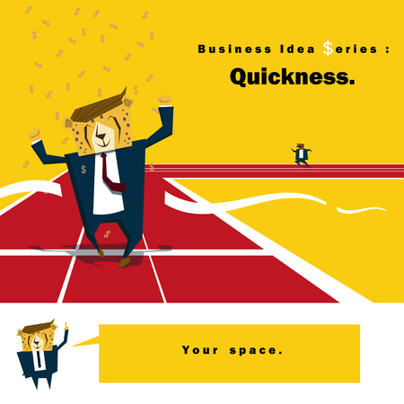quickness: Business Idea series Quickness,vector,illustration