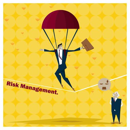 inconstant: Business Idea series Risk Management concept 1,vector,illustration
