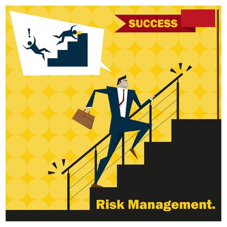 inconstant: Business Idea series Risk Management concept 2,vector,illustration Illustration