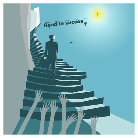 success concept: Business Idea series Road to Success concept,vector,illustration Illustration