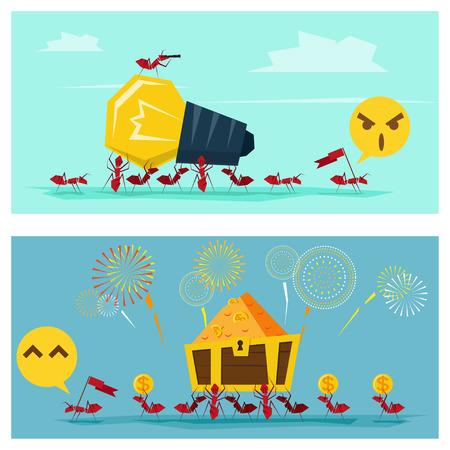 Business Idea serii Business Team 6 koncepcja, wektor, ilustracja Ilustracje wektorowe