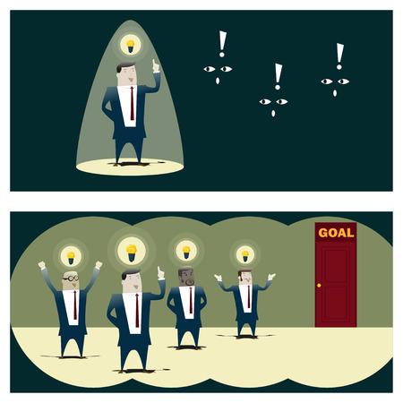 Business Idea serie Business Team 8 concept, vector, illustratie Stock Illustratie