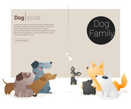 whelps: Animal banner with Dog for web design , vector , illustration