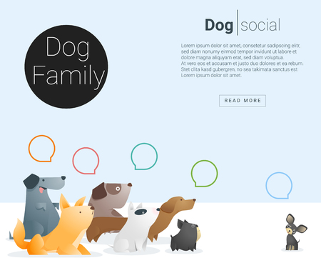 Animal banner with Dog for web design , vector , illustration