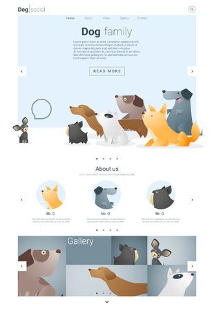 cane chihuahua: Animal modello di sito web banner e infografica con cane, vettore, illustrazione
