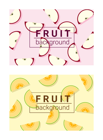 Colorful background with fruits