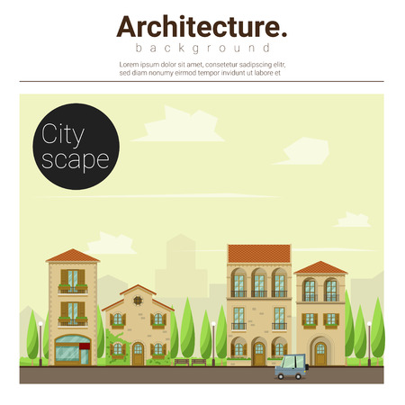 Architecture background Cityscape,illustration Illustration