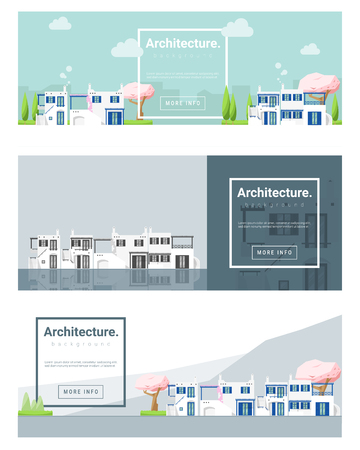 architecture: Architecture background Cityscape banner,illustration Illustration