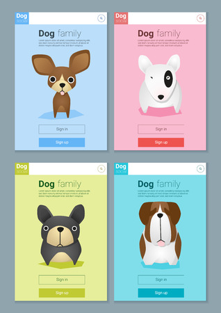 Animal banner with Dog for web design , vector, illustration Illustration