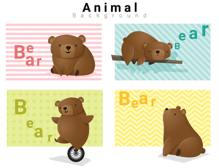 whelps: Animal background with Bears