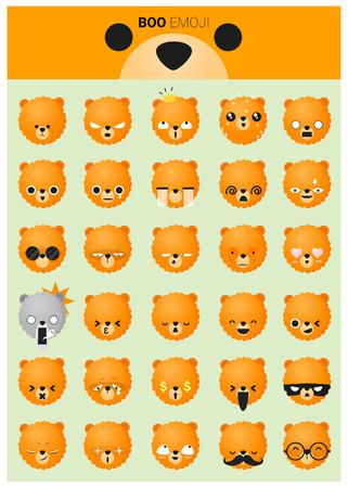 iconos emoji perro Ilustración de vector
