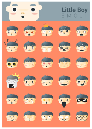 Little boy emoji icons
