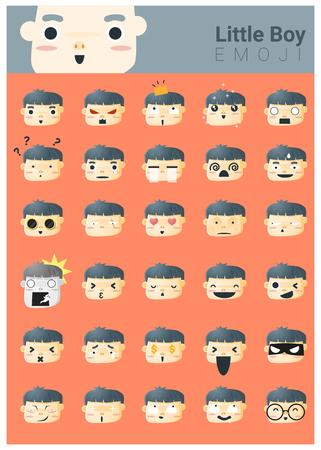 Los pequeños iconos emoji niño