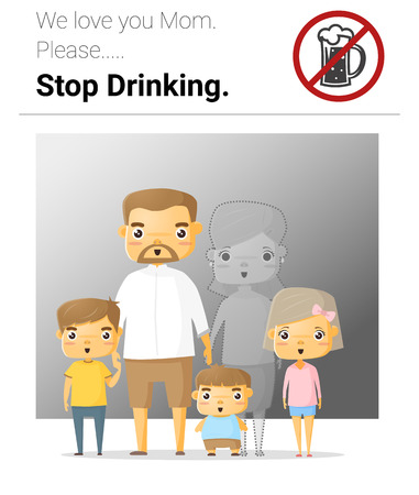 unhappy family: Family campaign mommy stop drinking